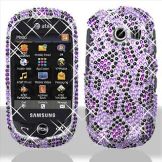 Purple Bling Hard Case Cover for Samsung Flight II A927