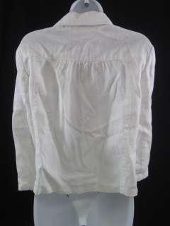 MICHAEL MICHAEL KORS White Linen Blazer Jacket Size 10