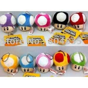 mushroom plush 30pcs/lot soft plush doll stuffed toy with key chain