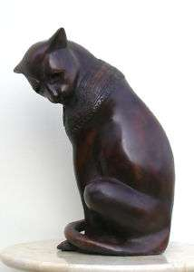 Cast Bronze Egyptian Cat Statue