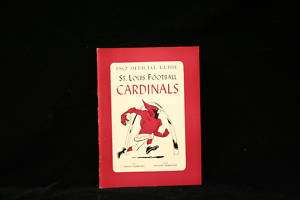 1962 St. Louis Cardinals Rare Football Media Guide