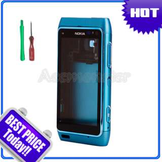 Blue Full Housing Case Cover Fascia For Nokia N8 +Tools