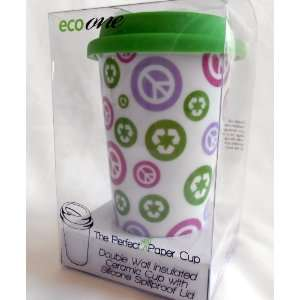 Eco One   The Perfect Hot Paper Cup   10 oz Ceramic Cup w/ Spillproof