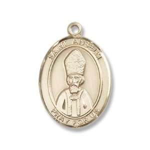 14K Gold St. Anselm of Canterbury Medal Jewelry