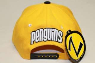 PITTSBURGH PENGUINS NHL SNAPBACK HAT CAP REFRESH YELLOW/BLACK