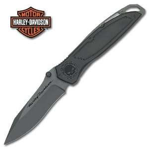Harley Davidson Folding Knife Skull II Black: Sports