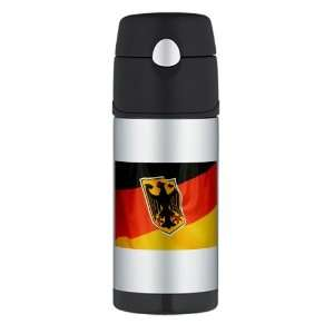Thermos Travel Water Bottle German Flag Waving Everything