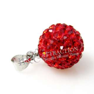 Swarovski Disco ball Crystal Pave Bead Charm Pendants fit Necklace