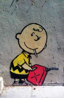 Charlie Brown by Banksy, Los Angeles Graffiti Art