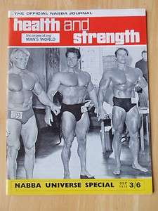 HEALTH and STRENGTH muscle magazine/ARNOLD SCHWARZENEGGER/Dave Draper