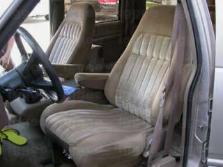 CHEVY SUBURBAN 1992 1999 LEATHER LIKE CUSTOM SEAT COVER