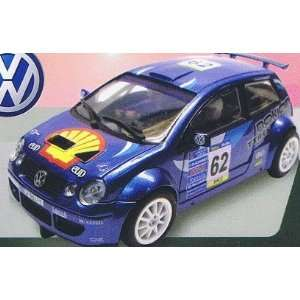 Power Slot   VW Polo S1600 Blue Shell Oil Slot Car (Slot