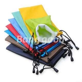 Eyeglasses Glasses Soft Cloth Drawstring Dust Pouch Carry Bag
