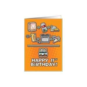 Happy Birthday   cake   11 years old Card: Toys & Games