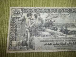 1896 ONE SILVER DOLLAR BILL EDUCATIONAL NOTE $$$$