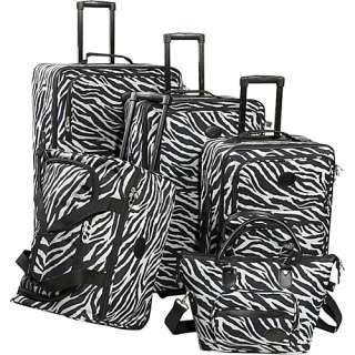 American Flyer Animal Print 5 Piece Luggage Set   Zebra