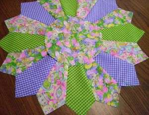 quilted easter holiday table topper runner centerpiece