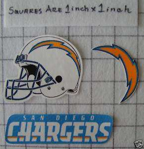 San Diego CHARGERS NFL Iron On Fabric Applique No Sew