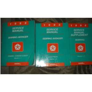 1995 Chrysler Sebring Shop Repair Service Manual Set (3