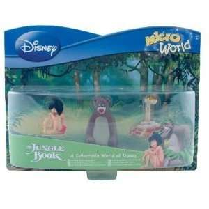 Disney Jungle Book Micro Figures   Mowgli Baloo KAA: Toys & Games
