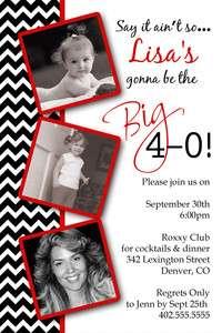 40th 50th 60th 70th Birthday Party Invitation Card You Print