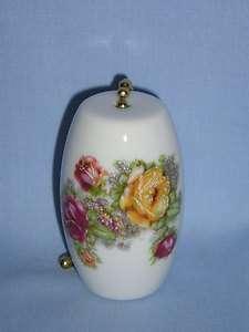 Rose & Yellow Flower Fan & Light Pull Porcelain Decal