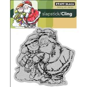 Black Cling Rubber Stamp 4X5.25 Holiday Hug: Arts, Crafts & Sewing