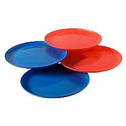 Essential Home 4 Pack Americana Red and Blue Dinner Plates
