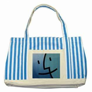 Carsons Collectibles Striped Blue Tote Bag of Apple Mac Laptop Finder