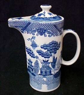 Blue Willow Porcelain China Water Jug Pitcher w/Lid New