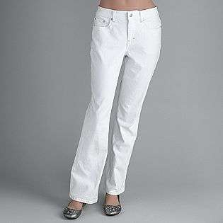 Womens Boot Cut White Jeans  Jaclyn Smith Clothing Womens Pants