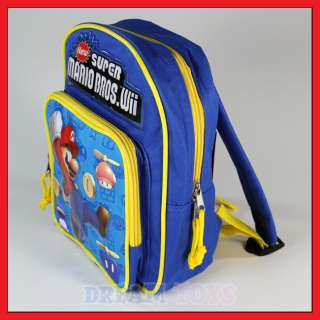 10 Super Mario Bros Coins Backpack Boys Bag Wii Game