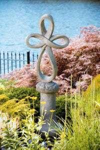 39 ETERNITY CROSS with Pedestal garden outdoor statue