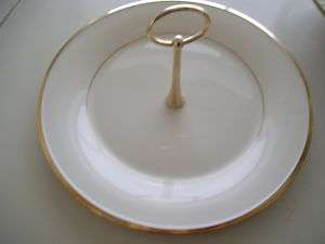 Lenox Fine China Serving Plate With Handle Gold Trim