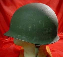 WORLD WAR II M1 HELMET FIXED BALE STAINLESS STEEL FRONT SEAM RIM