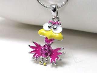 Bird Necklace Pink Tweety Bird Women Girl Gift Present Birthday