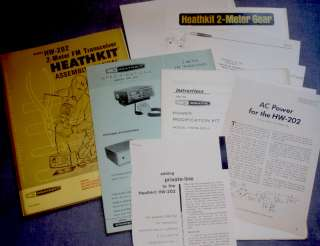 Heathkit HW 202 2M TRANSCEIVER MOBILE Ham Radio Manual + HWM Power Mod