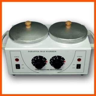 Double Hot Wax Heater Warmer Therapy Machine Skin Rejuvenation Free