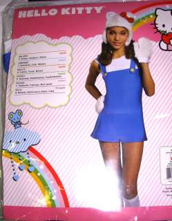 Hello Kitty Blue Jumpsuit Costume Dress Teen NIP
