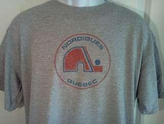 Quebec NORDIQUES 1970s Hockey Throwback T Shirt XXL