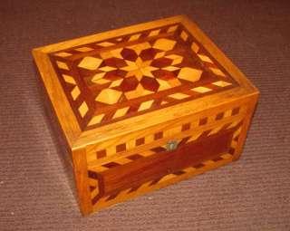 Antique American Folk Art Jewelry Box Circa 1890 |