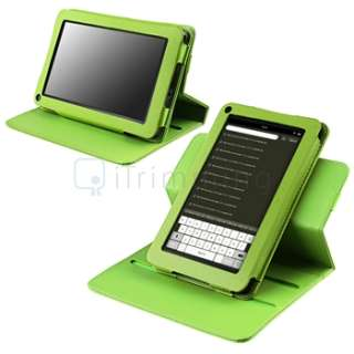 Bundles Green Leather Case+Screen Protector+Stylus For Kindle Fire 7