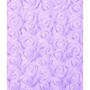 Lilac Minky Rose Swirl Fabric: Arts, Crafts & Sewing