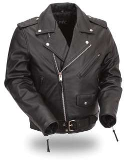 HOUSE OF HARLEY MENS CLASSIC LEATHER JACKET FMM200BMP
