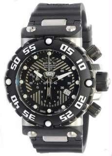 Invicta 0653 Mens Nitro Swiss Quartz Chronograph Black Dial Strap