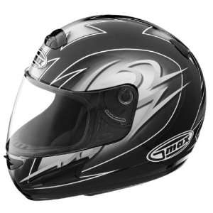 GMAX GM38 Full Face Street Helmet Black/Silver/White Medium   72 5795M