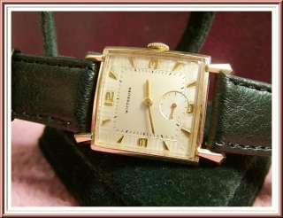 Wittnauer Longines Two Tone Dial Gold GF Watch   Superb Dial Design