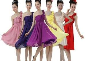 short cocktail Party evening dress Bridesmaids/bride Wedding Dress