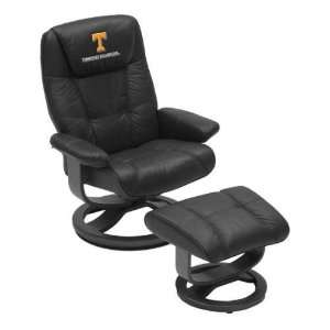 Tennessee UT Vols Volunteers Leather Swivel Chair & Ottoman: