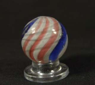 ANTIQUE GERMAN PEPPERMINT SWIRL w/ MICA MARBLE 3/4+ Stunning Beauty
